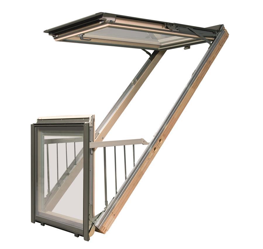 Balc n ventana de tejado veneo ventanas de pvc - Tejados de pvc ...