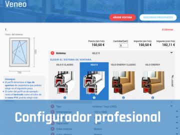 Configurador de ventanas de PVC para profesionales