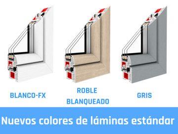 Nuevos colores de láminas estándar