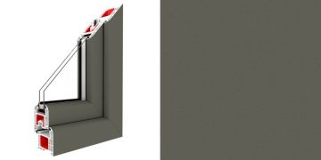 colores de láminas de las ventanas PVC