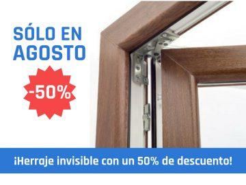 50% de descuento para la compra de herrajes invisibles