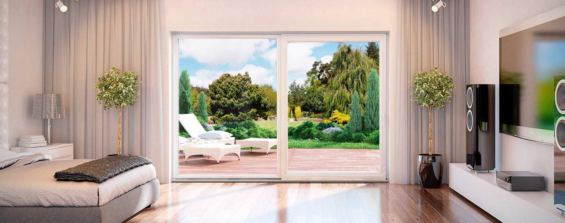 Puertas para terraza y balc n veneo ventanas de pvc for Puerta balcon pvc